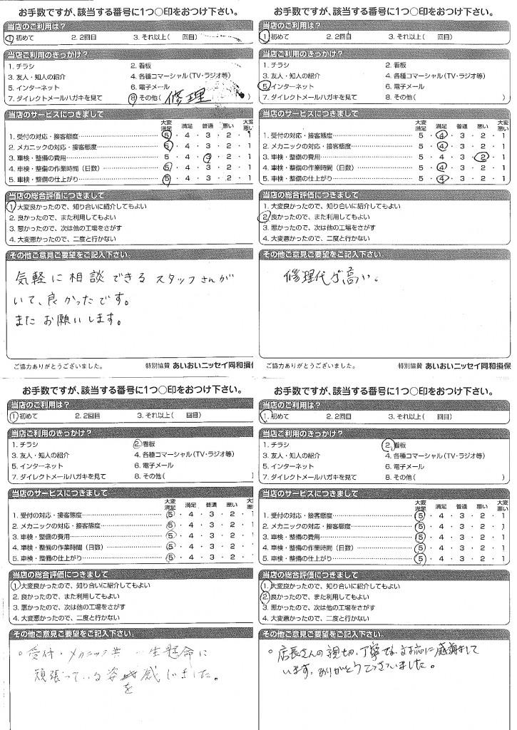 CSアンケート   15.1.28~15.3.2