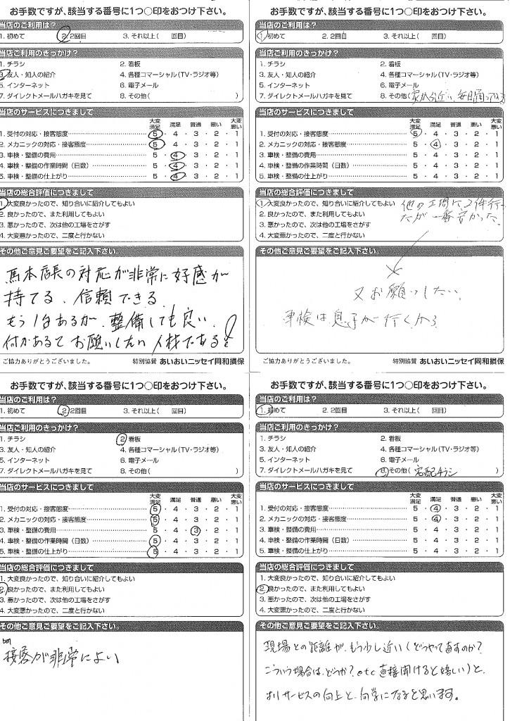 CSアンケート 14.4.7~15.1.15