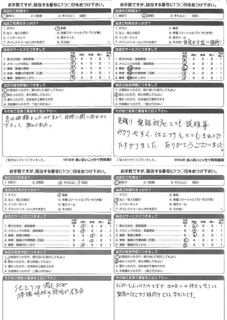 CSアンケート 14.1.6~14.1.28