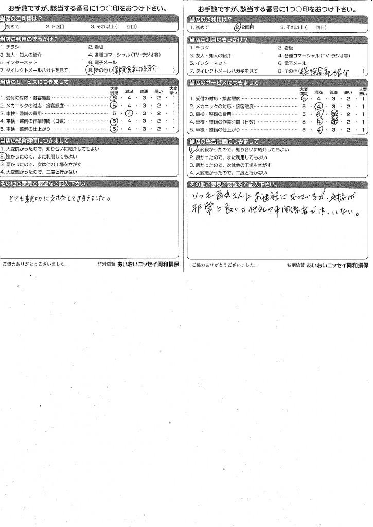 CSアンケート 安東 15.5.7~15.5.22